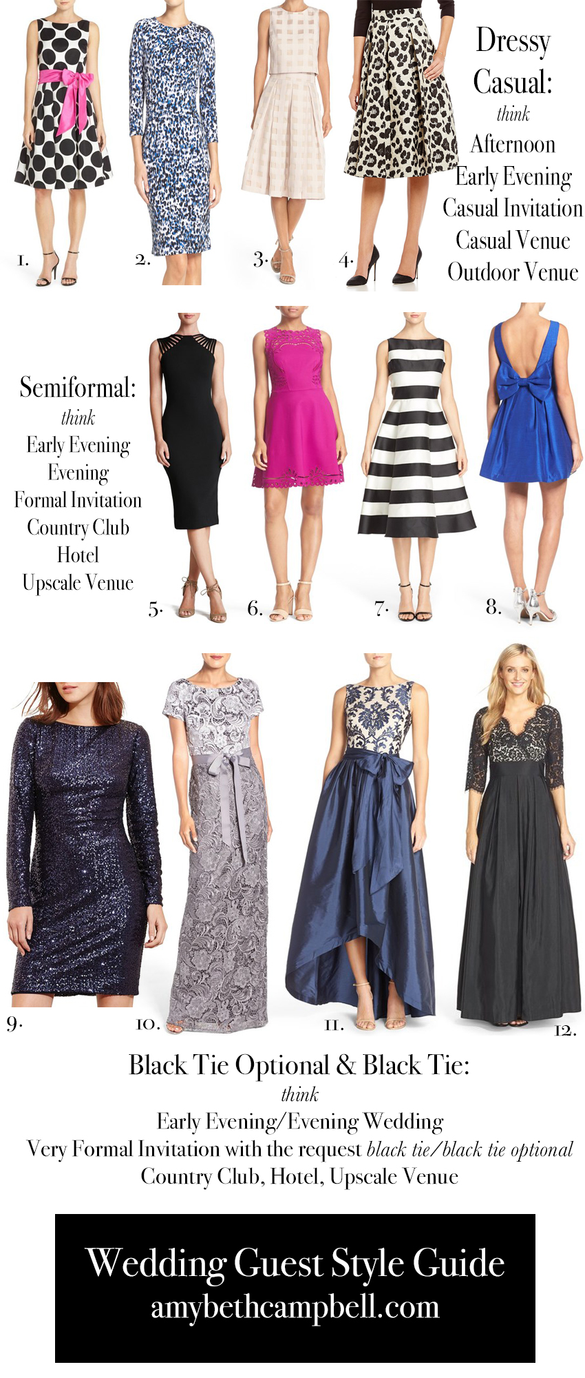 Wedding Guest Style Guide Amy Beth Campbell,Lace Fitted Sweetheart Neckline Wedding Dresses